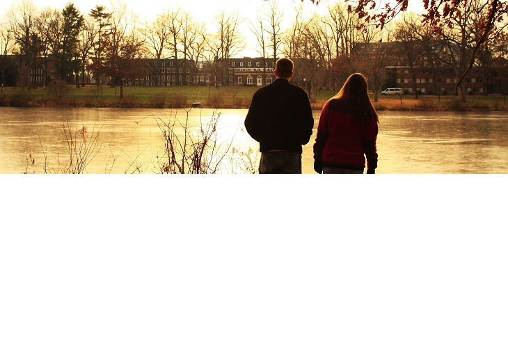 A view of TCNJ from the lake